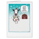 Funny cow Christmas card: Heifer self ...