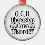 Funny Cow Christmas Ornament