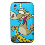 funny cow jumping over moon cartoon tough iPhone 3 cases