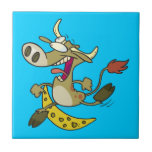 funny cow jumping over moon cartoon ceramic tile