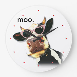 Funny Cow - Moo Large Clock
