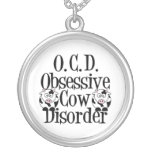 Funny Cow Round Pendant Necklace