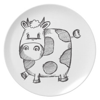 Funny Cow Sketch Plate