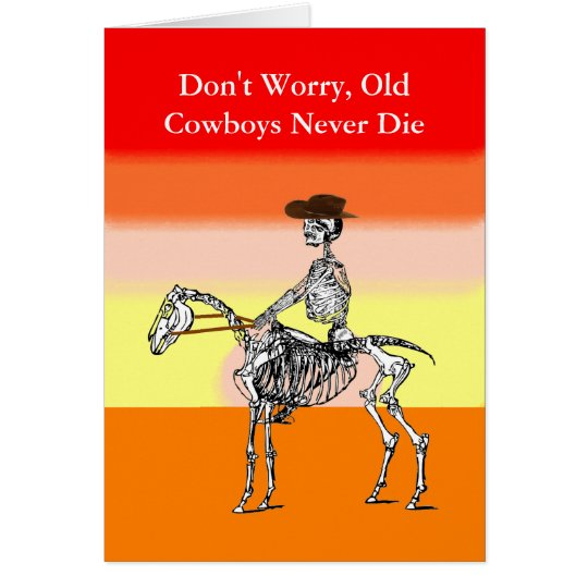 Funny cowboy birthday card