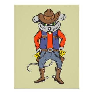 Funny Cowboy Mouse 21.5 Cm X 28 Cm Flyer