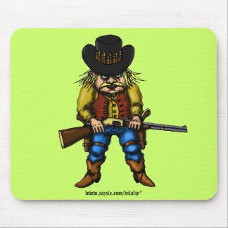 Funny cowboy mousepad design