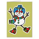 funny cowboy snowman card