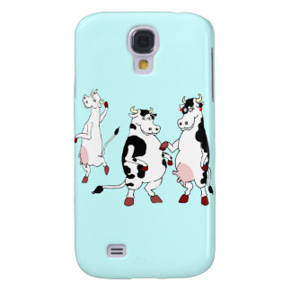 Funny cows cartoon galaxy s4 case