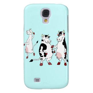 Funny cows cartoon galaxy s4 case