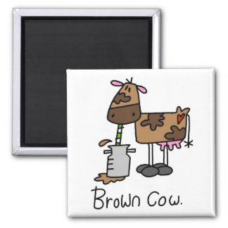 Funny Cows Square Magnet