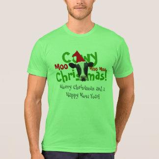 Funny Cowy Christmas Santa Cow T Shirts