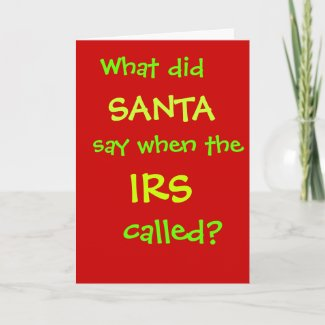 Funny CPA Accountant Christmas IRS Tax Joke