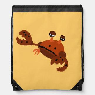 Funny Crab Beach Art Backpack