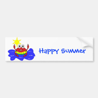 funny crab Bumper Sticker