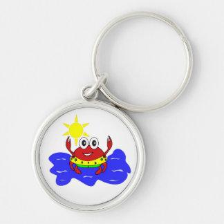 funny crab keychain
