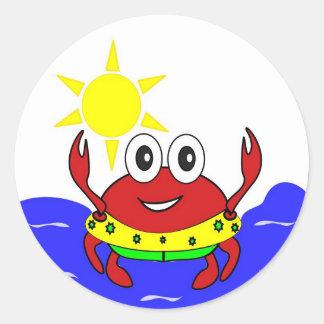 funny crab Sticker