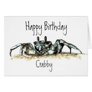 Funny, Crabby, Crab Card