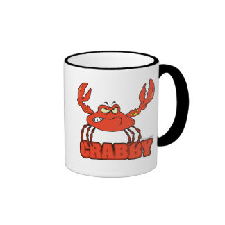 funny crabby red crab with an attitude mug