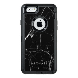 Funny Cracked Black Marble Texture Custom Name OtterBox iPhone 6/6s Case