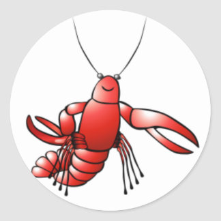 Funny Crawfish Lobster Classic Round Sticker