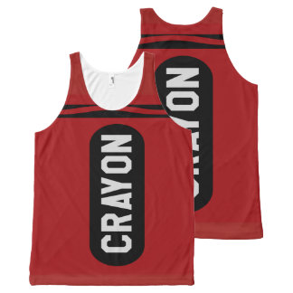 Funny Crayon Costume All-Over Print Tank Top