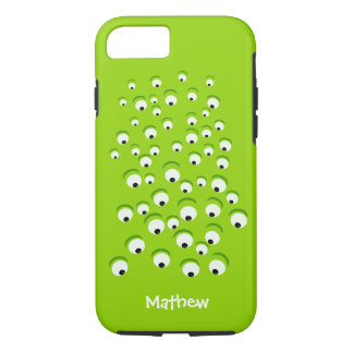 Funny Crazy and Curious Green Eyed Monster iPhone 8/7 Case