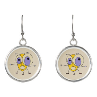 Funny Crazy Bug Earrings
