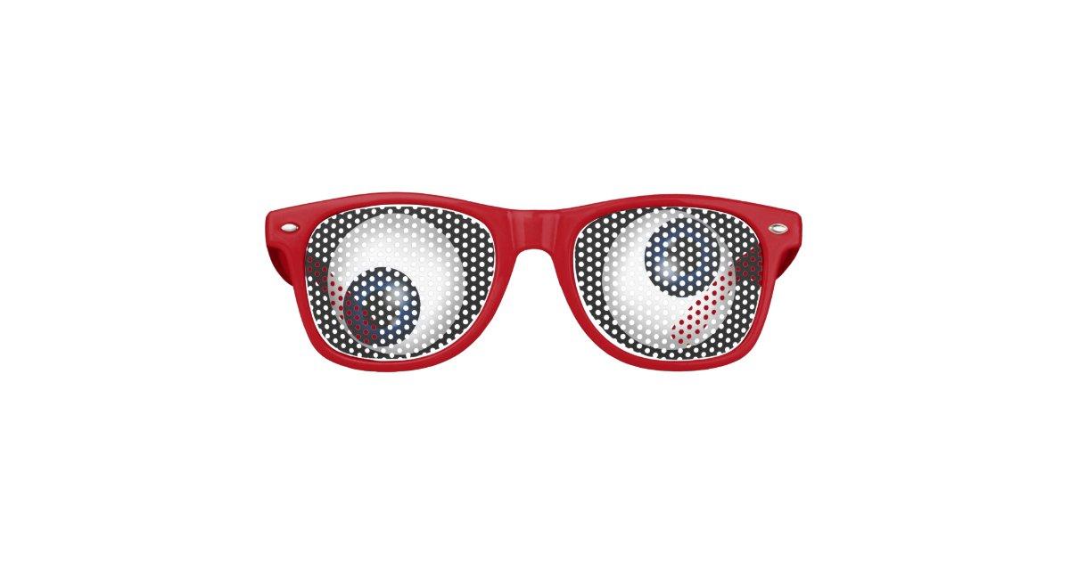 bf1e081c7207 Funny Crazy Eyes Retro Sunglasses
