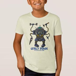 Funny crazy robot kids t-shirt