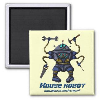 Funny crazy robot magnet design