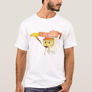 Funny Creme Brulee Dessert Quirky watercolour Art T-Shirt