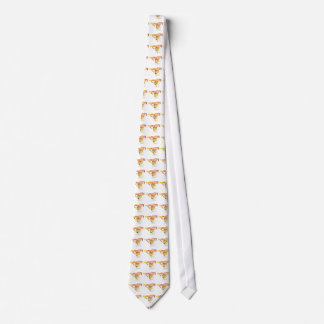 Funny Creme Brulee Dessert Quirky watercolour Art Tie