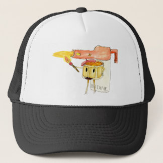 Funny Creme Brulee Dessert Quirky watercolour Art Trucker Hat