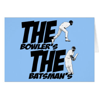 Funny cricket greeting card