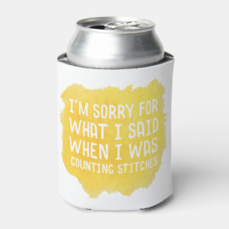 Funny Crochet Stitch Can Cooler