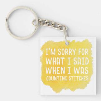 Funny Crochet Stitch Key Ring