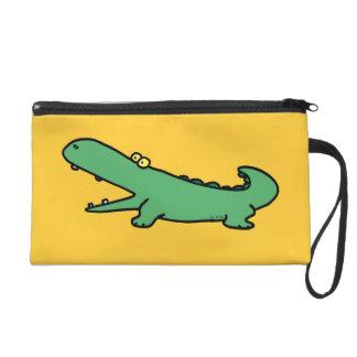 funny crocodile wristlet
