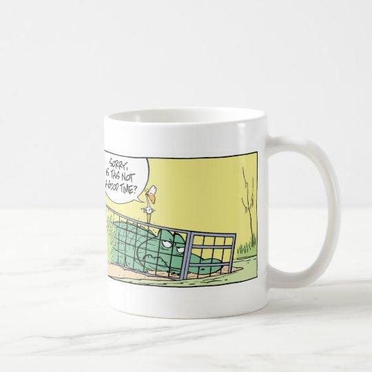 Funny Crocodile Cage Comic Coffee Mug