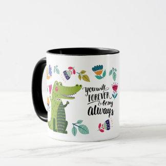 Funny Crocodile Valentine's Day Gift Mugs