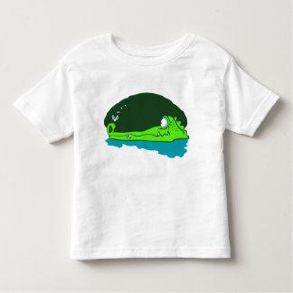 funny crocodile wathes fly cartoon toddler T-Shirt