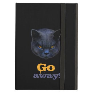 Funny Cross Cat says Go Away iPad Air Covers