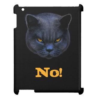 Funny Cross Cat says No iPad Case