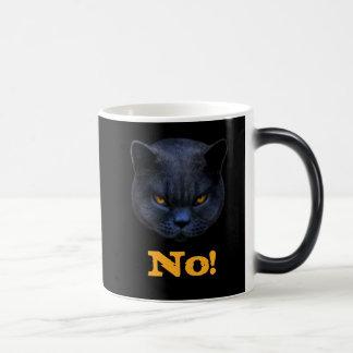 Funny Cross Cat says No Coffee Mugs