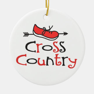 Funny Cross Country Runner Shoe © with CC Arrow Christmas Ornament