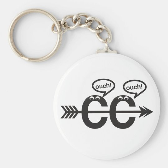 Funny Cross Country Running Runner Keychain- Ouch! Key Ring