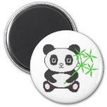 Funny cross-stitch panda refrigerator magnets
