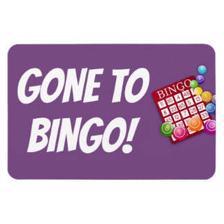 Funny Cruise Cabin Door Magnet - Gone to Bingo