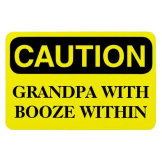 Funny Cruise Cabin Door Magnet - Grandpa Booze