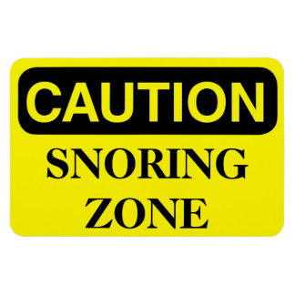 Funny Cruise Cabin Door Magnet - Snoring Zone