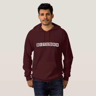 Funny Cryptocurrency Bitcorn Men's Hoodie